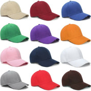 (12)pc Plain Multi Colored Dad Hats