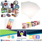 "100 Sheets 8.5x11"" Dye Sublimation Heat Transfer Paper"