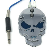 Skull Style Tattoo Power Supply Foot Pedal Switch Blue