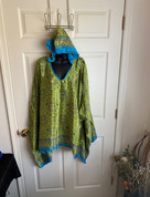 Womens Hooeded Poncho OS Style 10