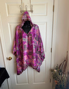Womens Hooeded Poncho OS Style 11