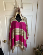 Womens Hooeded Poncho OS Style 13