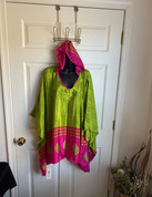 Womens Hooeded Poncho OS Style 18