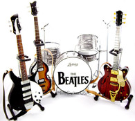 The Beatles Guitar Miniature Set Ed Sullivan Show