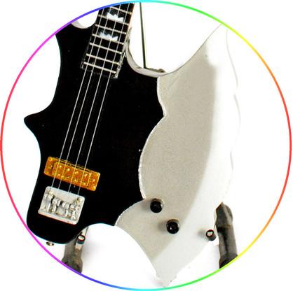 Gene Simmons KISS Miniature Guitar Legendary Axe Bass Guitar Replica Collectible