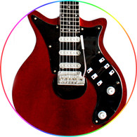 Brian May Miniature Guitar Replica Collectible Queen Red Signature