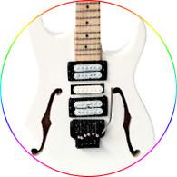 Paul Gilbert Miniature Guitar Collectible Ibanez White Custom PG Signature