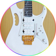 Steve Vai Miniature Guitar Replica Collectible I Silver Tree of Life JEM