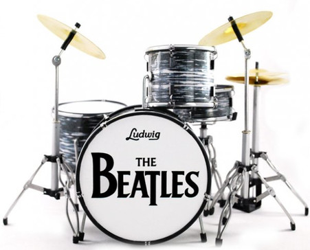 Ringo Starr The Beatles Miniature Drums Replica Collectible Image 1
