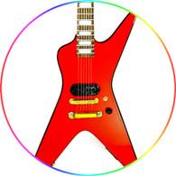 Sammy Hagar Miniature Guitar Replica Collectible RED ROCKER D V Red Signature