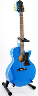 Barry Gibb Miniature Guitar Replica Collectible The Bee Gees Blue Acoustic Electric