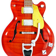 Brian Setzer Miniature Guitar Replica Collectible Stray Cats Red Setzer Signature