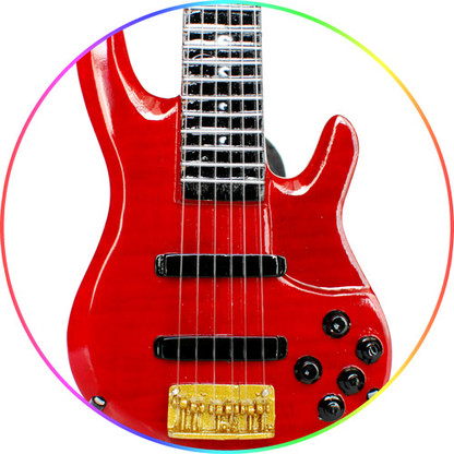 John Patitucci Red TRB Yamaha Bass Miniature Guitar