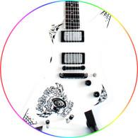 James hetfield Metallica Papa Het Style Xpl Miniature Guitar Collectible