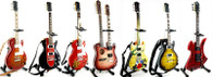 Slash Miniature Guitar Replica Collectible Combo Set of 7 Velvet Revolver / Guns n Roses Collections