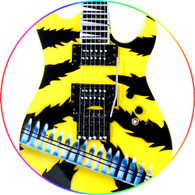 STRYPER Oz Fox Miniature Guitar Replica Collectible Machine Gun Cartridge Belt