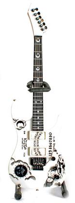 OUIJA White Board Theme Style KH Metal White Miniature Guitar