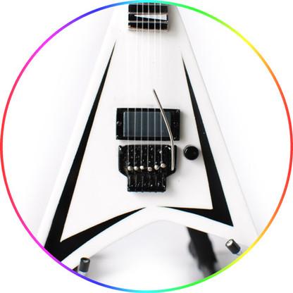 Alexi Laiho Children of Bodom V White Guitar Collectible