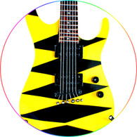 STRYPER Michael Sweet Miniature Guitar Replica Collectible J. Yellow Black CC