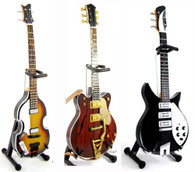 Beatles Miniature Guitar Set of 3