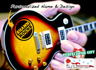 "Personalized Custom Miniature "" Your Own Rockin' Guitar "" Tobacco Burst Classic LPG"
