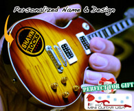 "Personalized Custom Miniature "" Your Own Rockin' Guitar "" Cherry Burst Classic LPG"