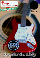 "Personalized Custom Miniature "" Your Own Rockin' Guitar "" White Ai FSG"