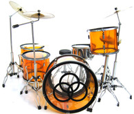 John Bonham Led Zeppelin Clear Orange Miniature Drums Replica