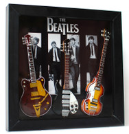 The Beatles Guitar Miniature Fab Four Shadow Box Shadowbox B