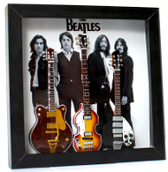 The Beatles Guitar Miniature Fab Four Shadow Box Shadowbox C