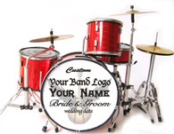 Miniature Drums Custom Personalized Beautiful Red Color