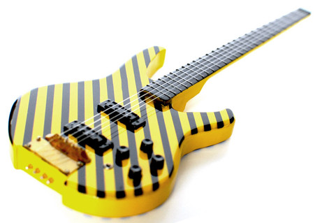 Tim Gaines STRYPER Headless Bass Miniature Guitar Replica Collectible