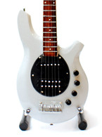 John Myung Dream Theater Miniature Signature Bass Guitar Collectible SILVER