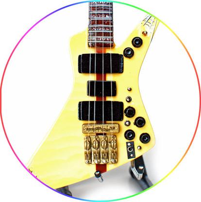 John Entwistle The Who Almb Bass Xpl Spider Web Miniature Guitar
