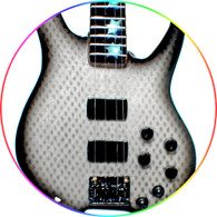Chris Wolstenholme MUSE Bass Graphite Style Mans Miniature Guitar