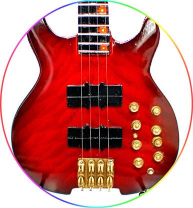 Mark King Level 42 Headless Bass Beautiful Red Miniature Guitar