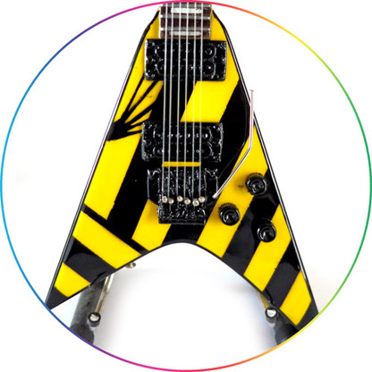 Michael Sweet STRYPER Ultra V Guitar Miniature Collectible