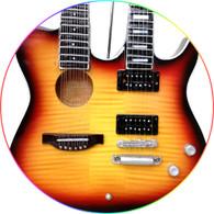 Slash Velvet Revolver Double Neck Acoustic Electric Miniature Guitar Sunburst