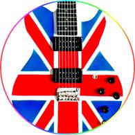 Phil Collen DEF LEPPARD Special Edition Union Jack Miniature Guitar Replica Collectible Signature