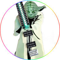Star Wars Theme Master Yoda Guitar Art Miniature Guitar