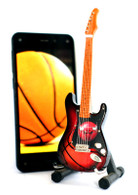 "NBA Theme Chicago Bulls Rocks 6"" Super Mini Miniature Guitar with Magnet and Stand"