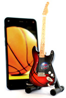 "NBA Theme Cleveland Cavaliers Rocks 6"" Super Mini Miniature Guitar with Magnet and Stand"