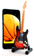 "NBA Theme Memphis Grizzlies Rocks 6"" Super Mini Miniature Guitar with Magnet and Stand"