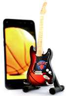 "NBA Theme New York Knicks Rocks 6"" Super Mini Miniature Guitar with Magnet and Stand"