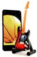 "NBA Theme Dallas Mavericks Rocks 6"" Super Mini Miniature Guitar with Magnet and Stand"