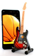 """NBA Theme Indiana Pacers Rocks 6"""" Super Mini Miniature Guitar with Magnet and Stand"""