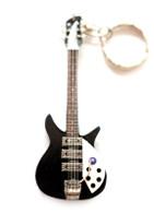 "John Lennon The Beatles Rick Black 4"" Miniature Guitar Fridge Magnet & Keychain"