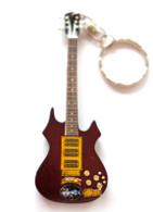 "Jerry Garcia Grateful Dead Rosebud Signature 4"" Miniature Guitar Fridge Magnet & Keychain"