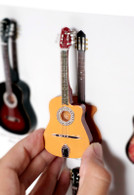 "Rock and Roll History V03 Django Reinhardt 4"" Miniature Guitars with Magnet Visual Compendium of Guitar"