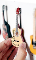 "Rock and Roll History V05 Woody Guthrie 4"" Miniature Guitars with Magnet Visual Compendium of Guitar"
